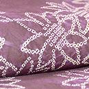 菊絞り小紋紫根染袷 質感・風合