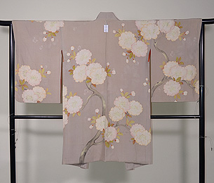 八重桜の羽織