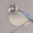 ツツジと桜文鳥訪問着袷一つ紋 質感・風合