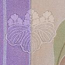 ツツジと桜文鳥訪問着袷一つ紋 背紋
