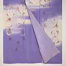 紫の霞に枝垂れ桜の訪問着 上前