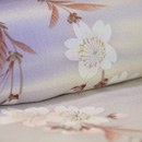 紫の霞に枝垂れ桜の訪問着 質感・風合