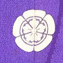 京都名所三つ紋訪問着 背紋