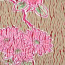 杢目絞りに四季の花散らし小紋 質感・風合
