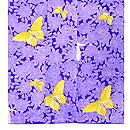 バラの花と蝶々の小紋 上前