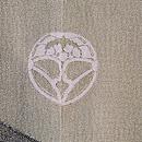 サギとカラスの羽織 背紋