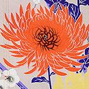 縦ぼかしに菊と梅紋羽織 質感・風合