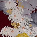 つわぶきに野菊の羽織 質感・風合