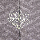 鳩羽鼠色白菊の付下 背紋