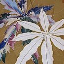 辛子色木の葉散らしの付下 質感・風合