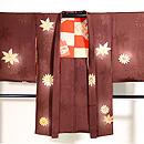 栗色に紅葉と菊の羽織 正面