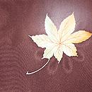 栗色に紅葉と菊の羽織 質感・風合