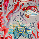 熱帯魚の図訪問着 質感・風合