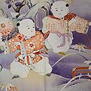 古代紫地唐子の訪問着 質感・風合