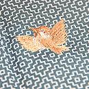 雀の刺繍江戸小紋 質感・風合