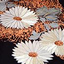 黒地菊の小紋 質感・風合