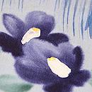 青い椿の付下 質感・風合