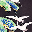 笠松に飛翔鶴の振袖 質感・風合