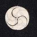 笠松に飛翔鶴の振袖 背紋