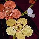 紗綾形に竹梅の付下 質感・風合
