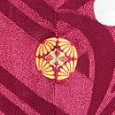 紗綾形に竹梅の付下 背紋