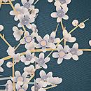 青磁色霞に梅の付下 質感・風合