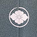 青磁色霞に梅の付下 背紋