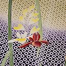 石畳文様に春蘭の小紋 質感・風合