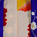 紫地疋田に梅の絞り模様羽織 羽裏