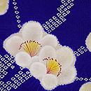 紫地疋田に梅の絞り模様羽織 質感・風合