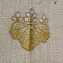 三五の桐一つ紋縦節紬 背紋