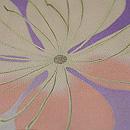 桜文様若紫色留袖 質感・風合