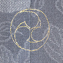 竹に雀の図付下 背紋