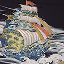 帆船の図訪問着 質感・風合