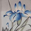 春秋花に千鳥模様単衣羽織 羽裏