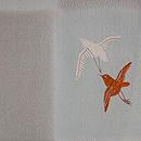 春秋花に千鳥模様単衣羽織 質感・風合