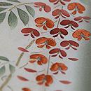 藤の花の単衣小紋 質感・風合