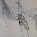 虫の行列 単衣の訪問着 質感・風合