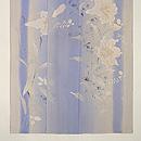 萩と百合の花の単衣訪問着 上前