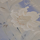 萩と百合の花の単衣訪問着 質感・風合