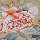 野薔薇と春蘭訪問着 質感・風合