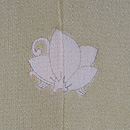 芦辺に舫い船の単衣羽織 背紋