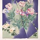 菫色牡丹の色留袖 上前
