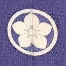 菫色牡丹の色留袖 背紋