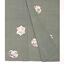 大小あられ風景の裾柄模様三つ紋袷 上前