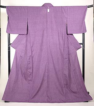 赤紫紬単衣