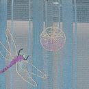 花浅葱蜻蛉三つ紋付下 背紋