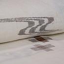 十字絣にカキジャー八重山上布 質感・風合