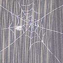 蜘蛛の巣に楓と花びら夏羽織 質感・風合