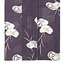 桔梗に菖蒲、蛇籠の絽小紋 上前